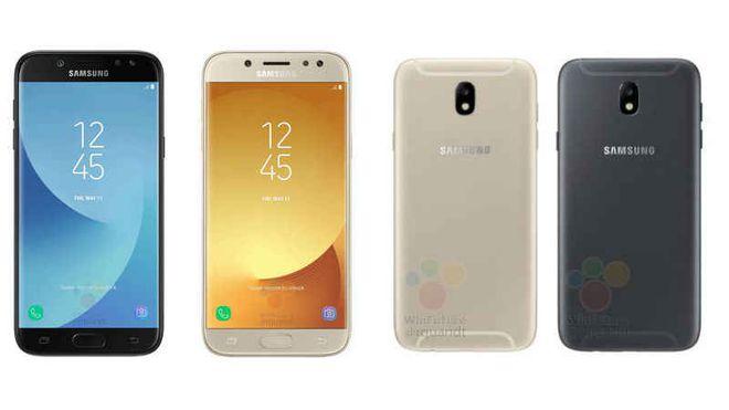 Imagem mais recente vazada dos Galaxy J5 e J7 (2017) mostram aparelhos com praticamente o mesmo visual da edição do ano passado