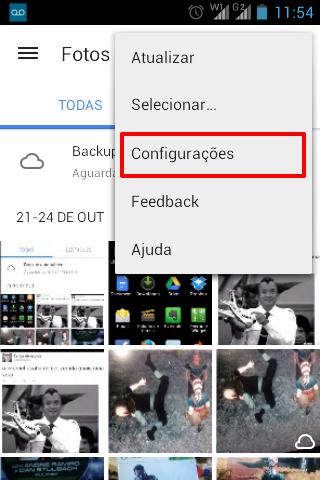 Desativar backup automático de fotos no Android