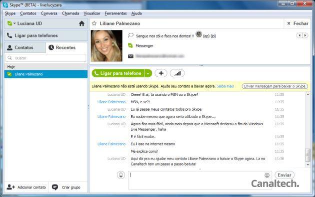 Skype e MSN