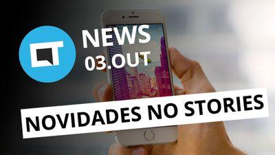 Stories do Instagram atualizado; Orelhões com chamadas gratuitas; e+ [CT News]
