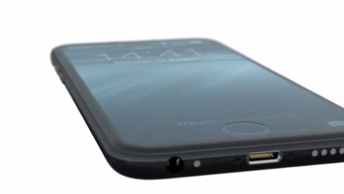 Conceito traz iPhone 7 com maçã brilhante e tela ocupando todo o painel frontal