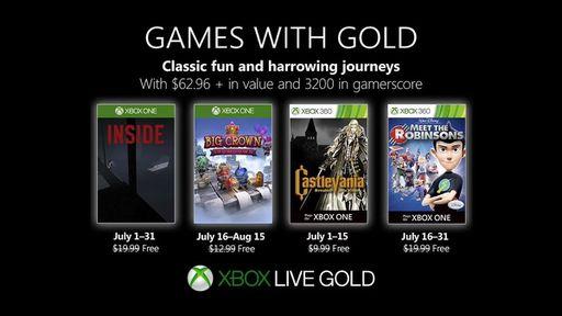 Games with Gold   Inside e Castlevania SOTN são os games gratuitos de julho