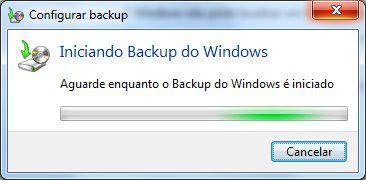Iniciando backup do Windows