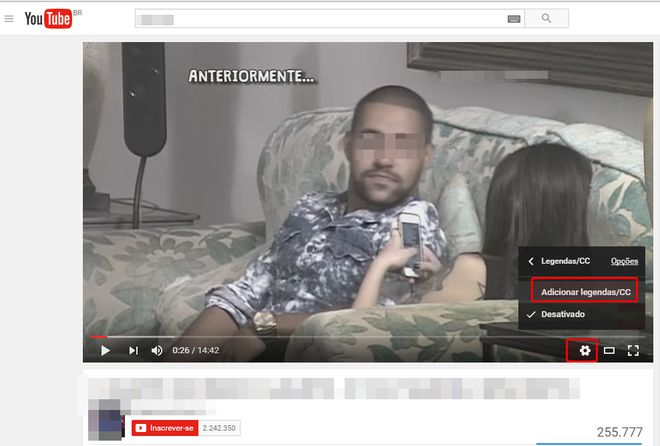 tutorial legendas youtube