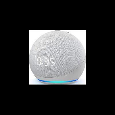 Echo Dot (4ª geração) com relógio