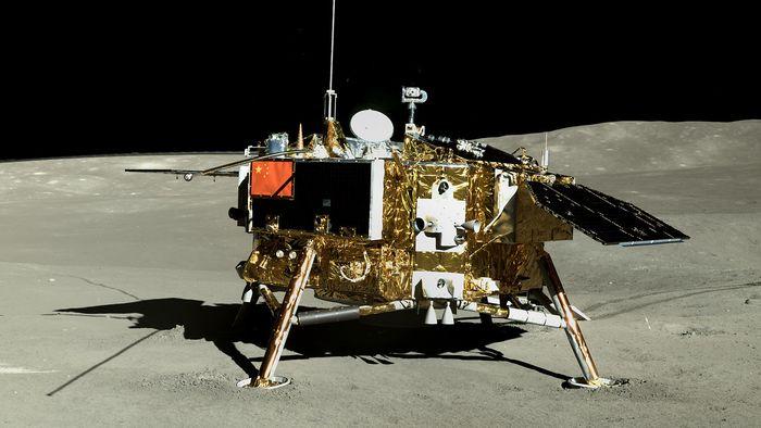 China libera mais fotos do lado afastado da Lua, tiradas pela missão Chang'e 4