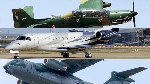 5 aviões icônicos da Embraer