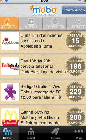 Mobo app screenshot