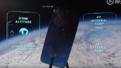 Xiaomi lança Redmi Note 7 para o espaço e aparelho volta intacto à Terra