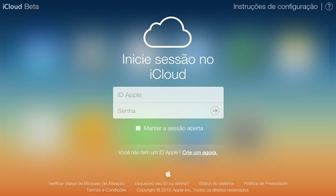 iCloud no navegador