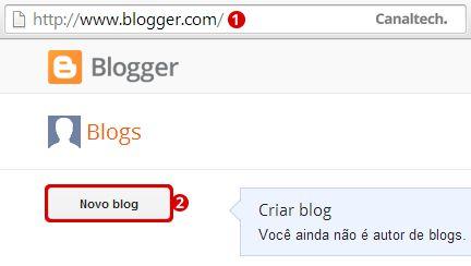 Novo Blog Blogger