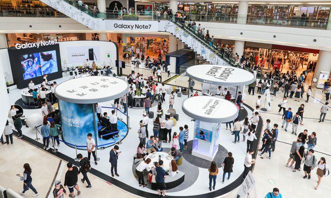 Ilhas de teste foram colocadas em vários shoppings na Coreia do Sul e atraíram consumidores curiosos