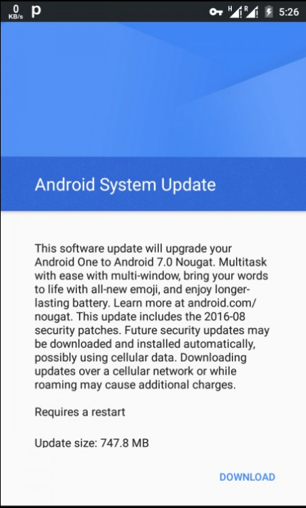 Android One Nougat