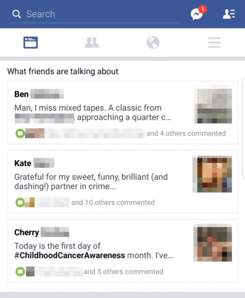 Facebook o que seus amigos estão falando