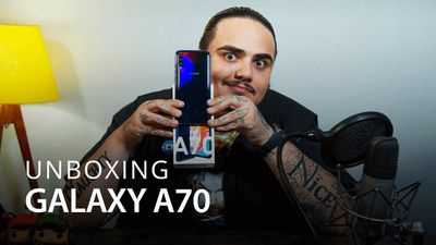 O ENORME SAMSUNG GALAXY A70 [Unboxing]