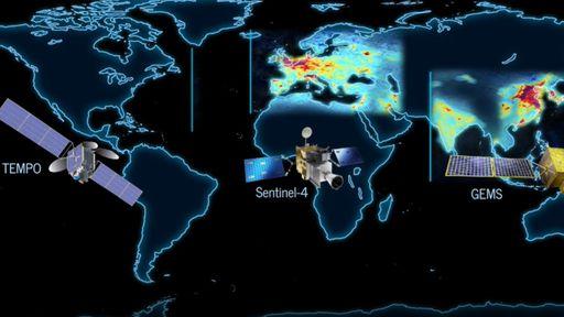 NASA, ESA e Coreia do Sul permitirão acompanhar a poluição da Terra a cada hora