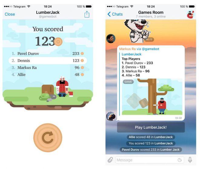 plataforma de jogos Telegram