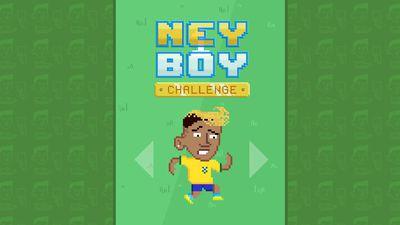 No game NeyBoy Challenge, a ideia é manter o Neymar Jr. em pé!