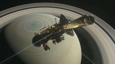 Sonda Cassini faz seu mergulho final em Saturno na manhã desta sexta-feira (15)