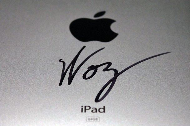 Autógrafo do Woz no iPad