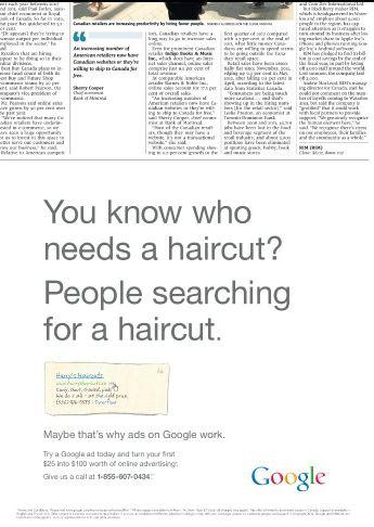 Anúncio Google jornal