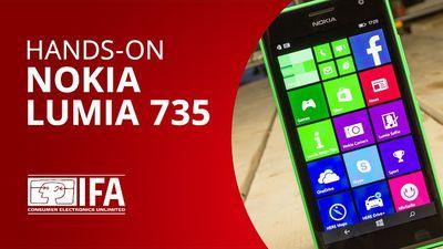 """Nossas primeiras impressões do """"selfie phone"""", o Lumia 735 [Hands-on   IFA 2014]"""