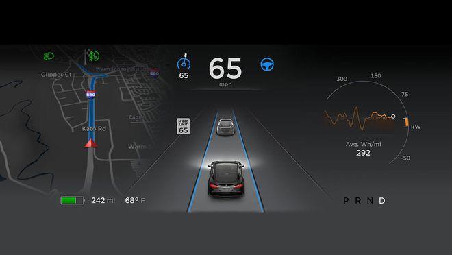 Tesla Model S 2016 (Computador de Bordo)