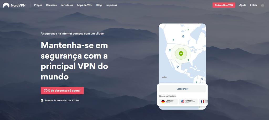 NordVPN talvez seja o serviço de VPN mais conhecido da atualidade, muito disso graças aos recursos de segurança e grande variedade de servidores que possui