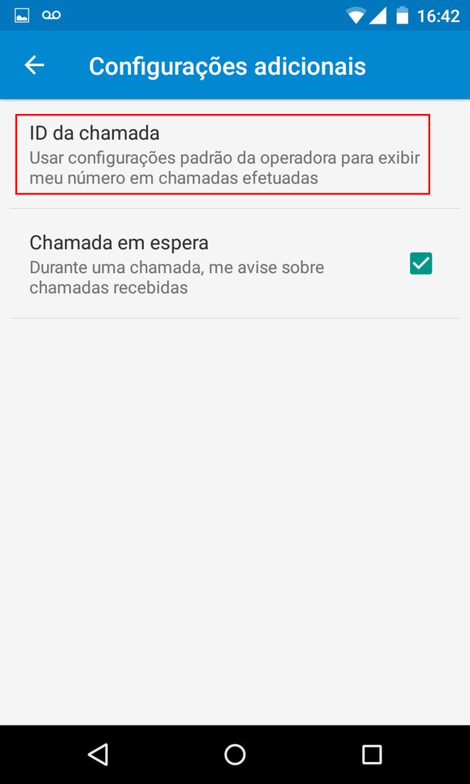 Ligação privada Android