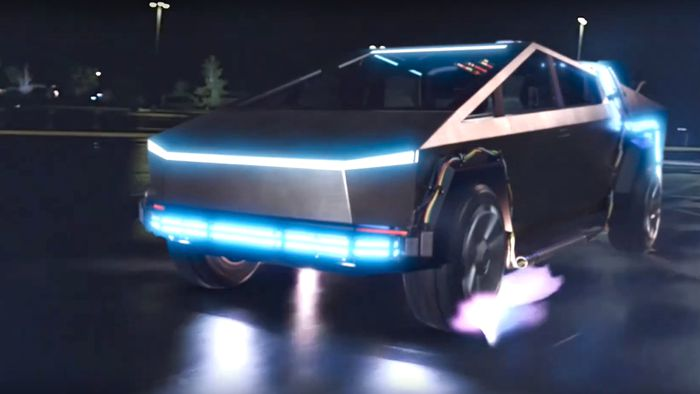 Colocaram um Tesla Cybertruck no lugar do DeLorean em