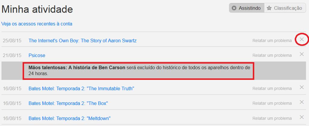 Histórico Netflix