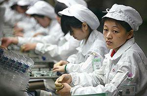 Ânimo na fábrica chinesa é contagiante