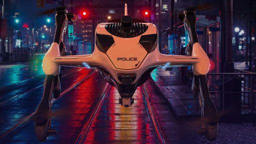 Este drone policial pode perseguir bandidos por 3 horas a 225 km/h