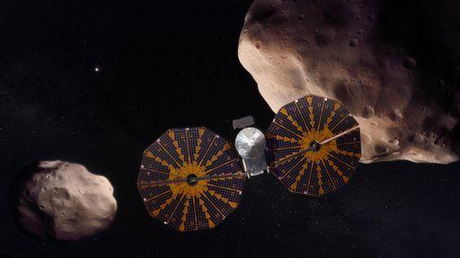 Sonda que visitará asteroides troianos é liberada para testar seus instrumentos