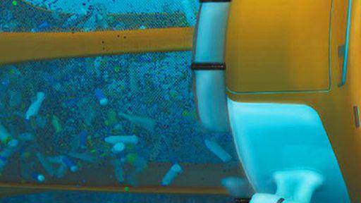 Robô subaquático coleta lixo do oceano