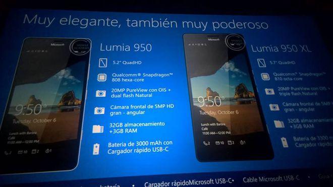 Microsoft Lumia 950, 950 XL e 550