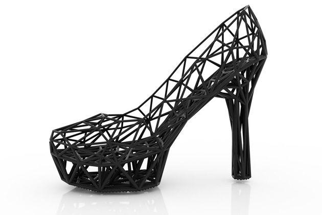 Sapatos de salto 3D