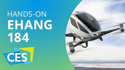 EHANG 184: um drone que transporta pessoas [Hands-on | CES 2016]