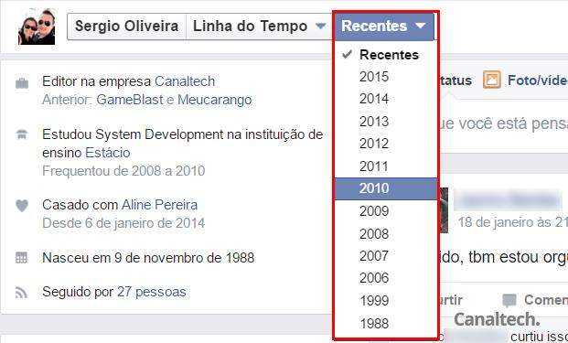 A partir da barra secundária no seu perfil, você consegue acessar um resumo de suas atividades no ano selecionado
