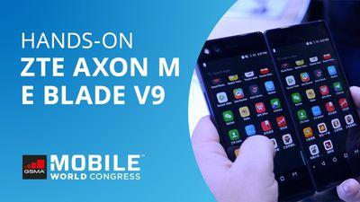 Hands-on MWC 2018 | ZTE  Blade V9 e Axon M, o smartphone dobrável