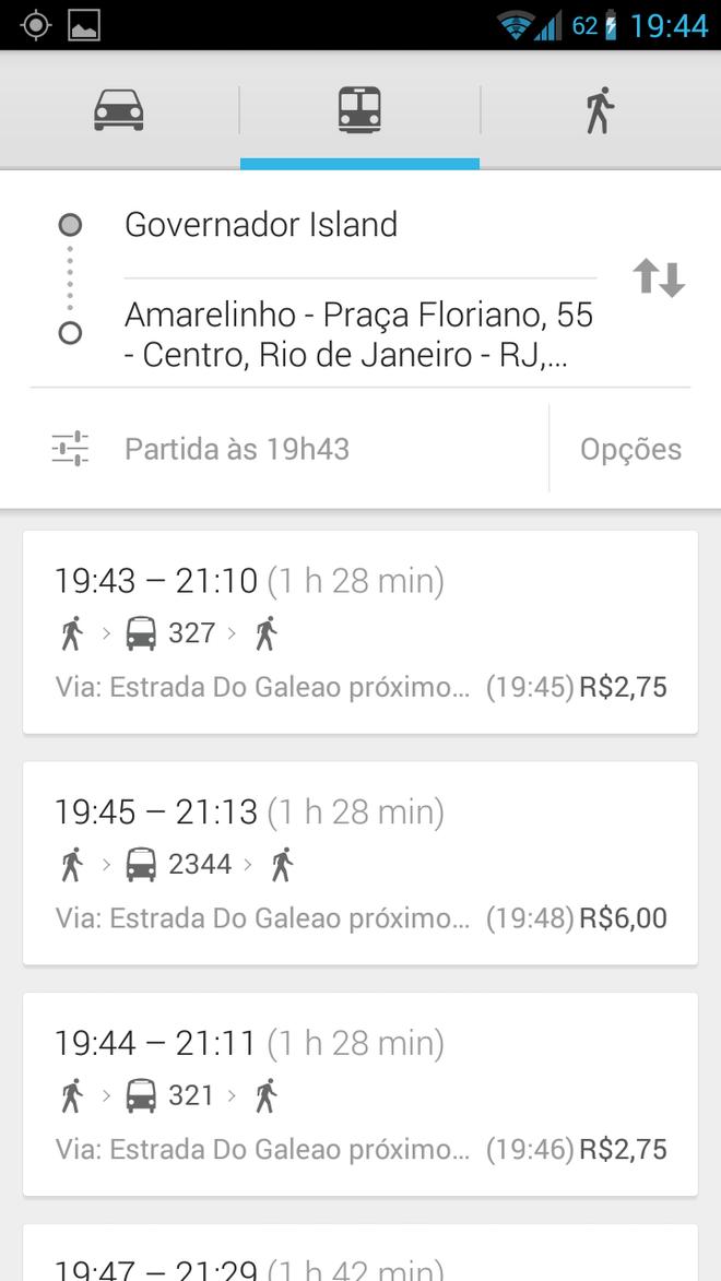 Google Maps - Transporte público