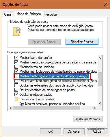 Feito isso, é só desmarcar a opção indicada na imagem para se livrar de vez dos anúncios intrusivos nas janelas do seu Windows 10