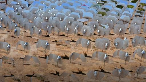 Espelhos giratórios são a nova aposta para produção de energia solar concentrada
