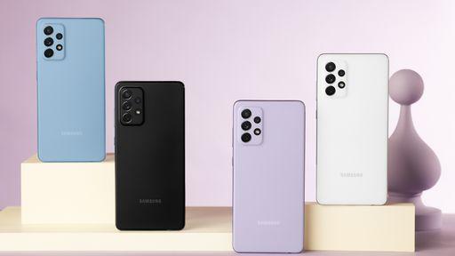 Samsung anuncia os novos Galaxy A52, A52 5G e A72 com tela de até 120 Hz e IP67