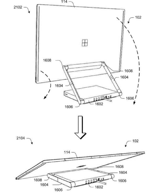 Patente mostra que monitor pode ser recolhido para ser utilizado como uma espécie de tablet gigante