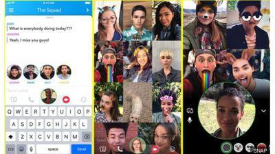 Snapchat agora permite chamadas de áudio e vídeo com até 16 pessoas