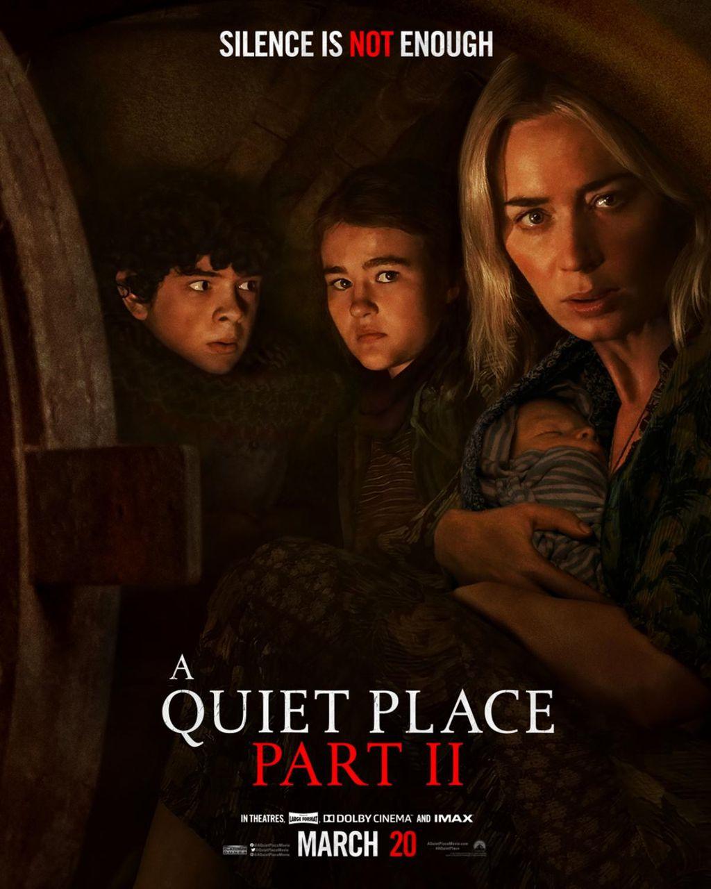 Um dos filmes mais aguardados de 2020, Um Lugar Silencioso – Parte II teve sua estreia adiada indefinidamente pela Universal Pictures