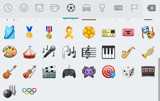 Símbolo das Olimpíadas no WhatsApp