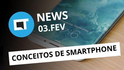 Conceitos de novos smartphones, novo fornecedor de bateria da Samsung e + [CTNews]