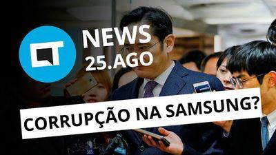 """""""Herdeiro"""" da Samsung condenado por corrupção; Galaxy J7+ com dual-cam [CT News]"""